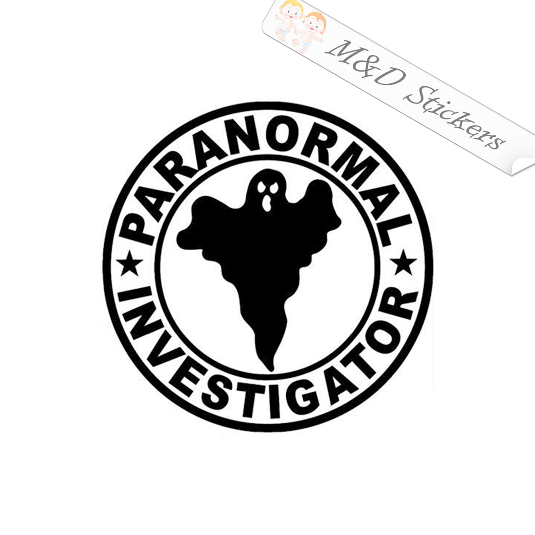 2x Paranormal investigator Vinyl Decal Sticker Different colors & size for Cars/Bikes/Windows