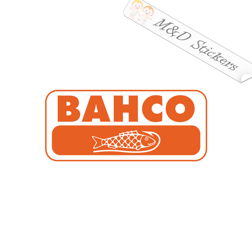 2x Bahco Logo Vinyl Decal Sticker Different colors & size for Cars/Bikes/Windows