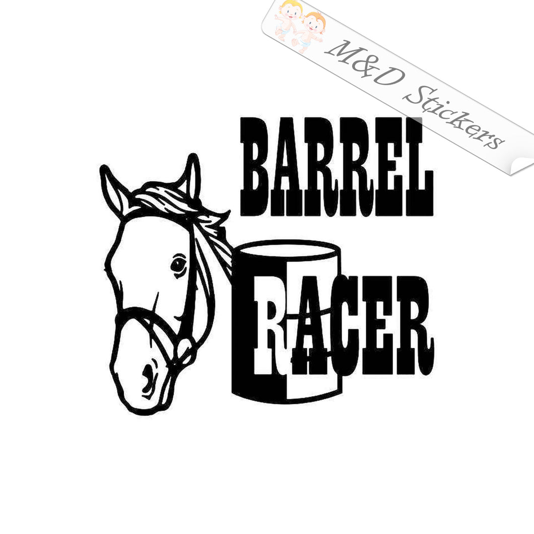 2x Barrel Racer Vinyl Decal Sticker Different colors & size for Cars/Bikes/Windows