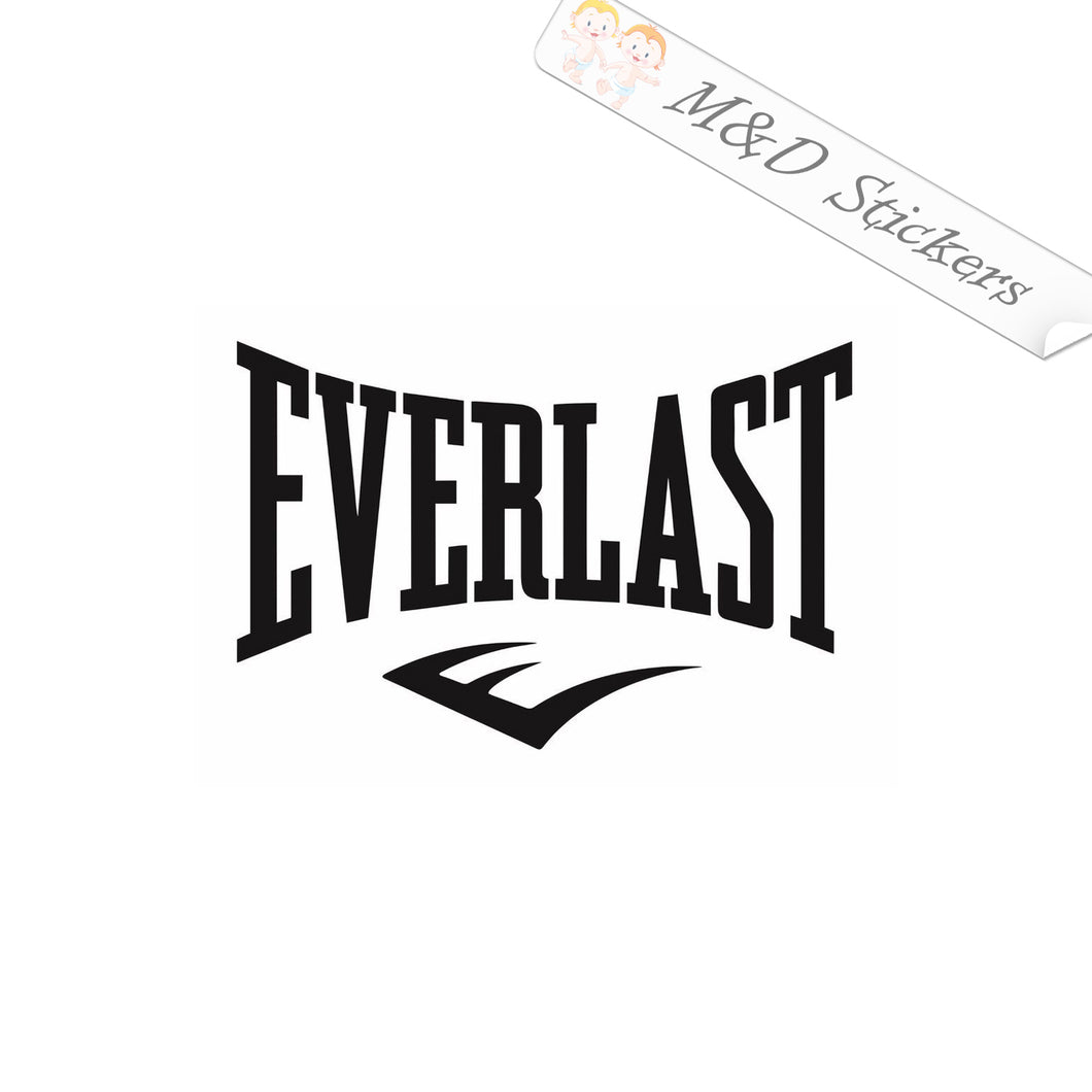 2x Everlast Logo Vinyl Decal Sticker Different colors & size for Cars/Bikes/Windows