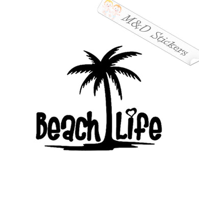 2x Beach life Vinyl Decal Sticker Different colors & size for Cars/Bikes/Windows
