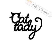 2x Cat Lady Mom Vinyl Decal Sticker Different colors & size for Cars/Bikes/Windows