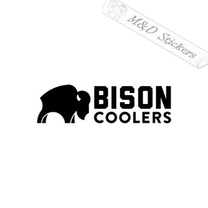 2x Bison Coolers Logo Vinyl Decal Sticker Different colors & size for Cars/Bikes/Windows