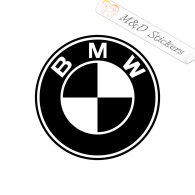 2x BMW Logo Vinyl Decal Sticker Different colors & size for Cars/Bikes/Windows