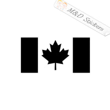2x Canada Maple Leaf Flag Vinyl Decal Sticker Different colors & size for Cars/Bikes/Windows