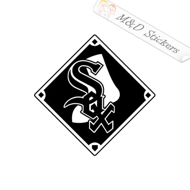 2x Chicago White Sox Vinyl Decal Sticker Different colors & size for Cars/Bikes/Windows