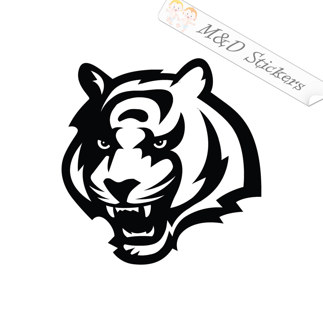 2x Cincinnati Bengals Vinyl Decal Sticker Different colors & size for Cars/Bikes/Windows