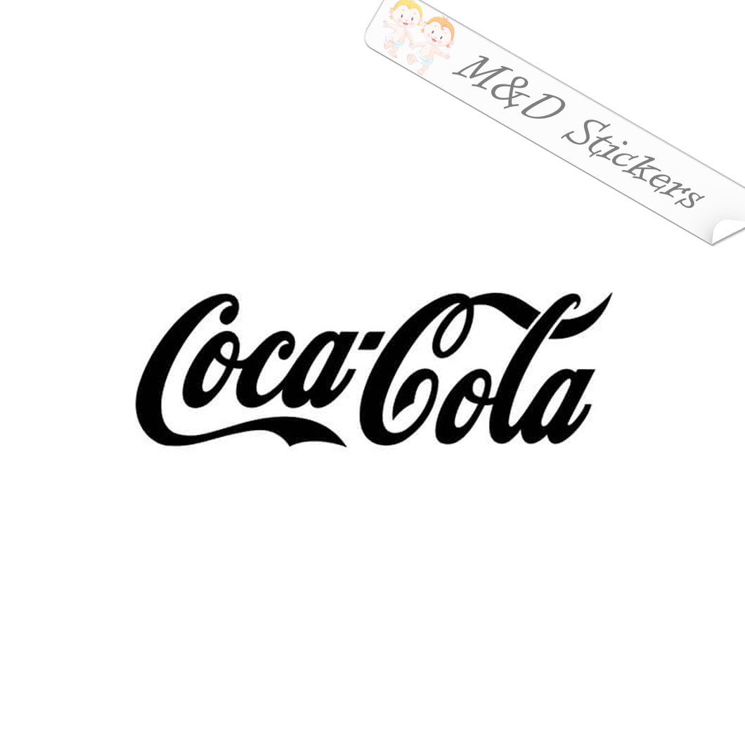 2x Coca Cola Logo Vinyl Decal Sticker Different colors & size for Cars/Bikes/Windows