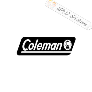 2x Coleman Logo Vinyl Decal Sticker Different colors & size for Cars/Bikes/Windows