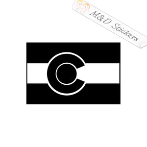 2x Colorado State Flag Vinyl Decal Sticker Different colors & size for Cars/Bikes/Windows