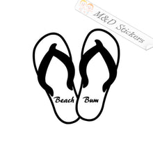 2x Beach bum Vinyl Decal Sticker Different colors & size for Cars/Bikes/Windows