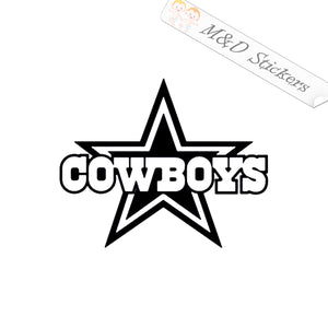 2x Dallas Cowboys Vinyl Decal Sticker Different colors & size for Cars/Bikes/Windows
