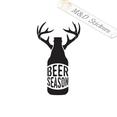 2x Beer season Vinyl Decal Sticker Different colors & size for Cars/Bikes/Windows