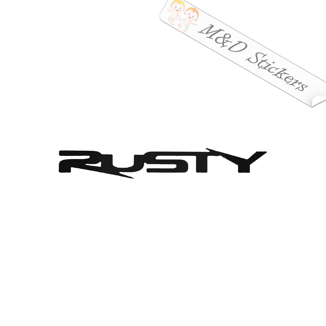 2x Rusty Surfing Logo Vinyl Decal Sticker Different colors & size for Cars/Bikes/Windows