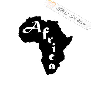 2x Africa continent shape Vinyl Decal Sticker Different colors & size for Cars/Bikes/Windows