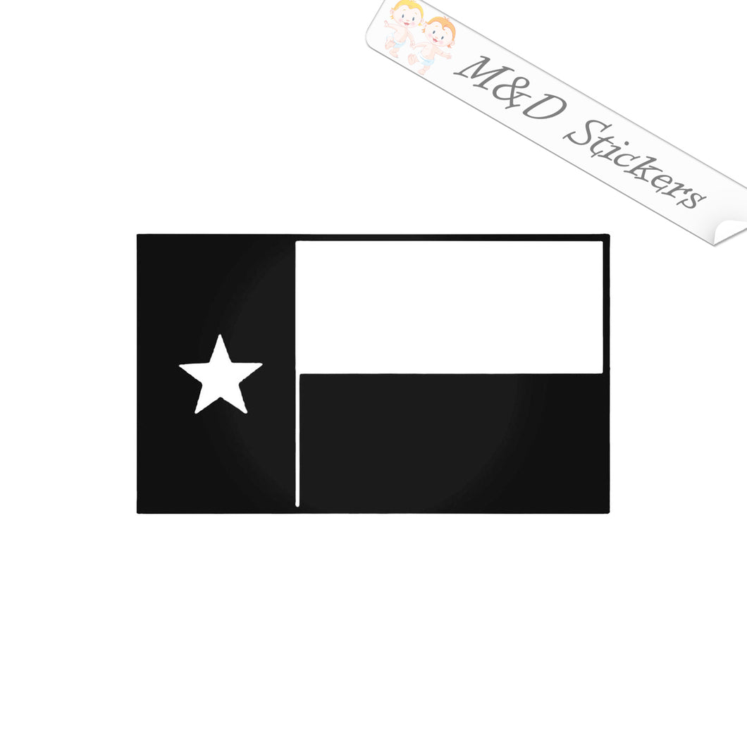 2x Texas State Flag Vinyl Decal Sticker Different colors & size for Cars/Bikes/Windows