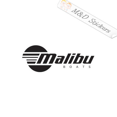 2x Malibu Boats Logo Vinyl Decal Sticker Different colors & size for Cars/Bikes/Windows