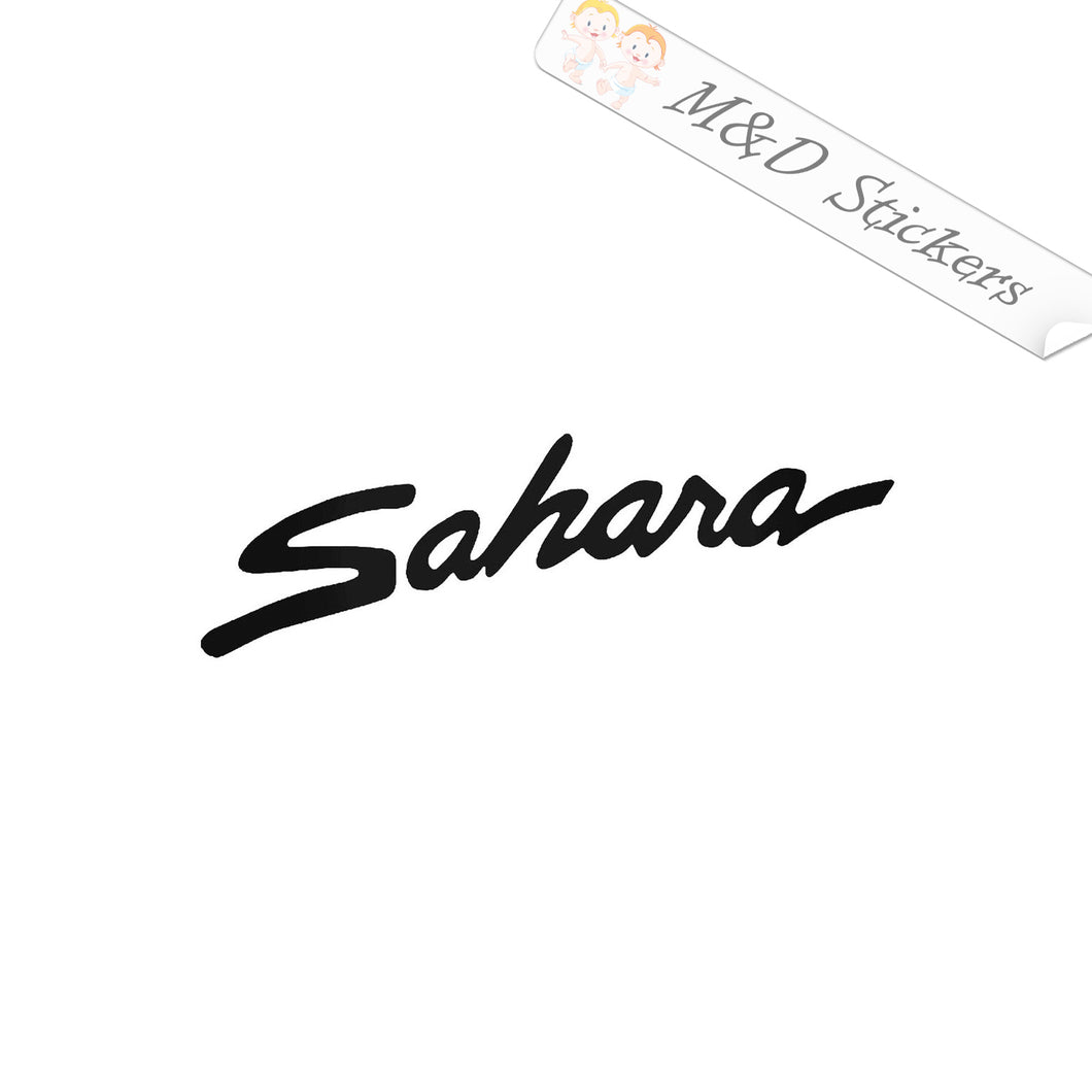2x Sahara Jeep Vinyl Decal Sticker Different colors & size for Cars/Bikes/Windows