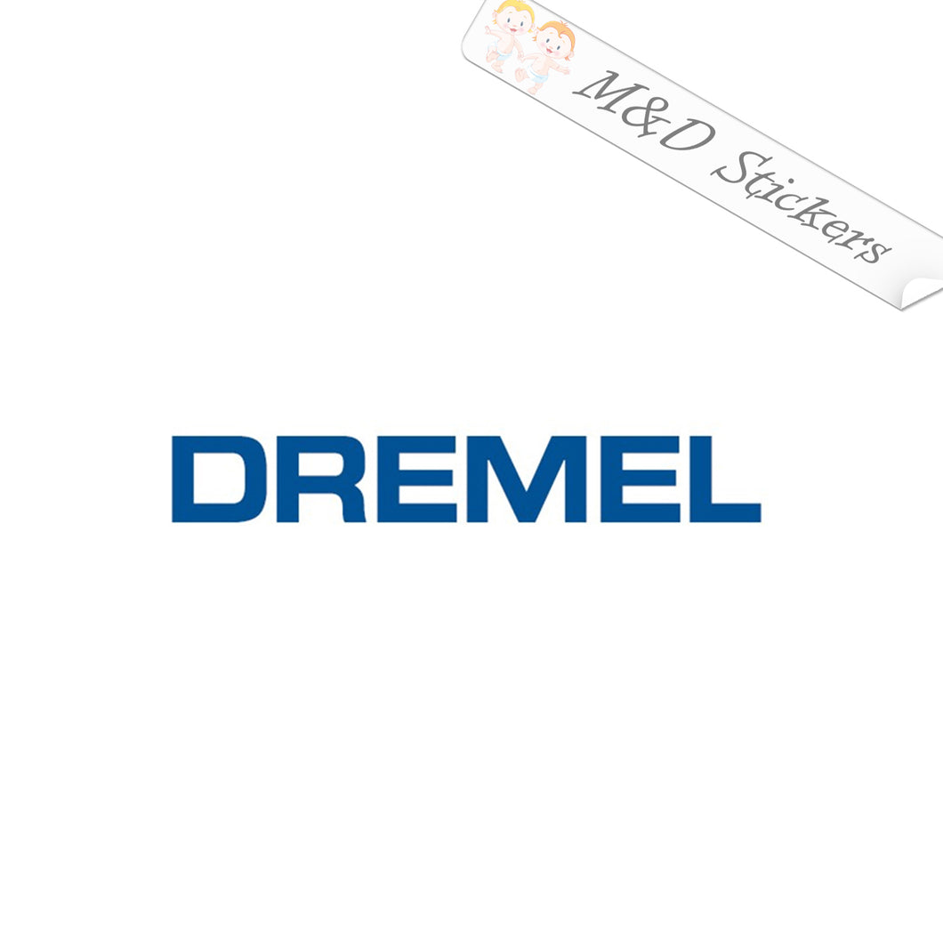 2x Dremel Logo Vinyl Decal Sticker Different colors & size for Cars/Bikes/Windows