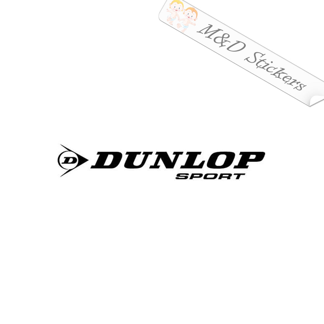 2x Dunlop Logo Vinyl Decal Sticker Different colors & size for Cars/Bikes/Windows