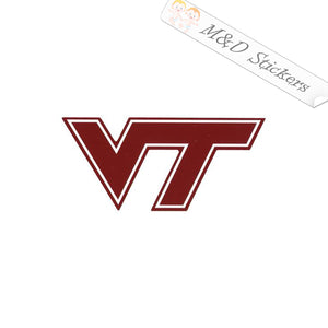 2x Virginia Tech VT Logo Vinyl Decal Sticker Different colors & size for Cars/Bikes/Windows