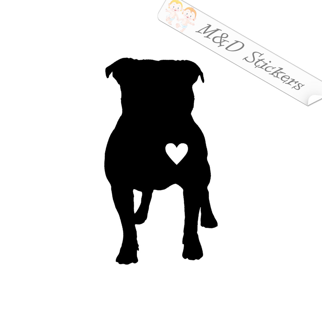 2x Love Pittbull Dog Vinyl Decal Sticker Different colors & size for Cars/Bikes/Windows