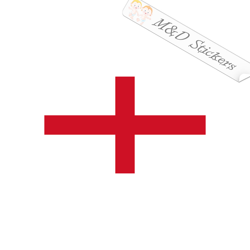 2x England Flag Vinyl Decal Sticker Different colors & size for Cars/Bikes/Windows