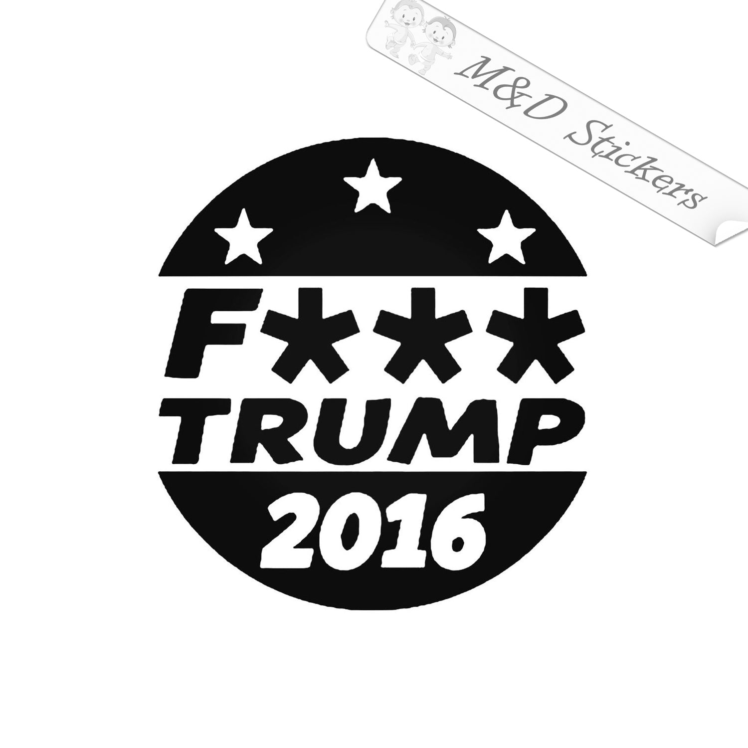 2x Trump 2020 Election Vinyl Decal Sticker Different colors /& size for Cars//Bike