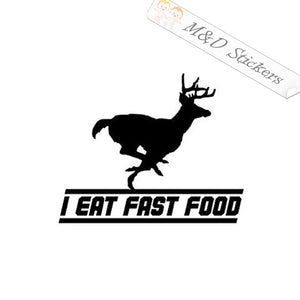 2x Running Deere I eat fast food Vinyl Decal Sticker Different colors & size for Cars/Bikes/Windows