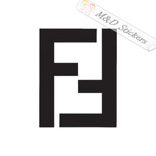 2x Fendi Logo Vinyl Decal Sticker Different colors & size for Cars/Bikes/Windows