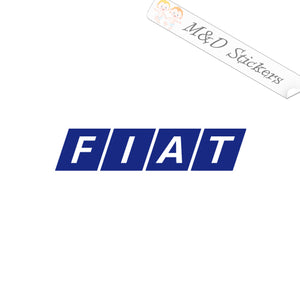 2x Fiat Logo Vinyl Decal Sticker Different colors & size for Cars/Bikes/Windows