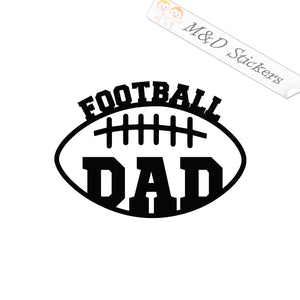2x Football dad Vinyl Decal Sticker Different colors & size for Cars/Bikes/Windows