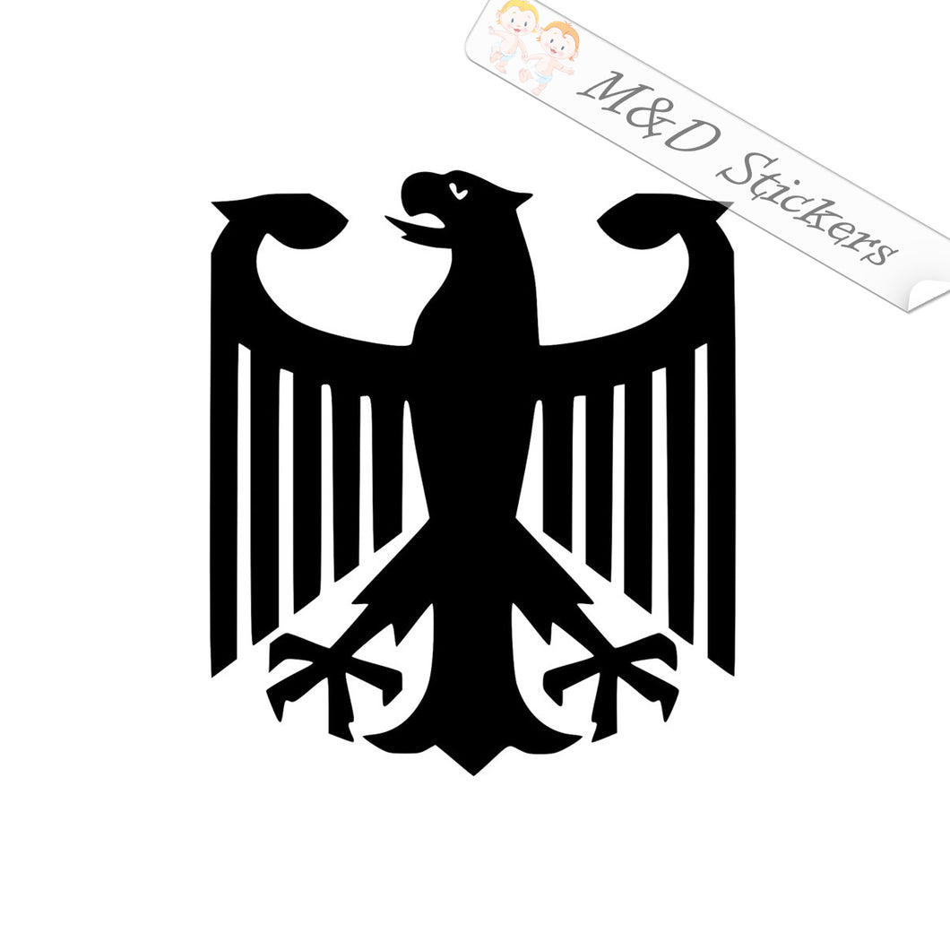 2x German Deutschland Coat of Arms Eagle Vinyl Decal Sticker Different colors & size for Cars/Bikes/Windows