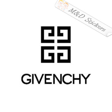 2x Givenchy Logo Vinyl Decal Sticker Different colors & size for Cars/Bikes/Windows