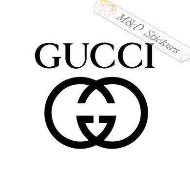 2x Gucci Logo Vinyl Decal Sticker Different colors & size for Cars/Bikes/Windows