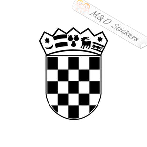 2x Croatian Coat of Arms Vinyl Decal Sticker Different colors & size for Cars/Bikes/Windows