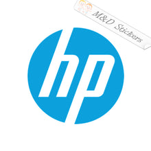 2x HP Logo Vinyl Decal Sticker Different colors & size for Cars/Bikes/Windows