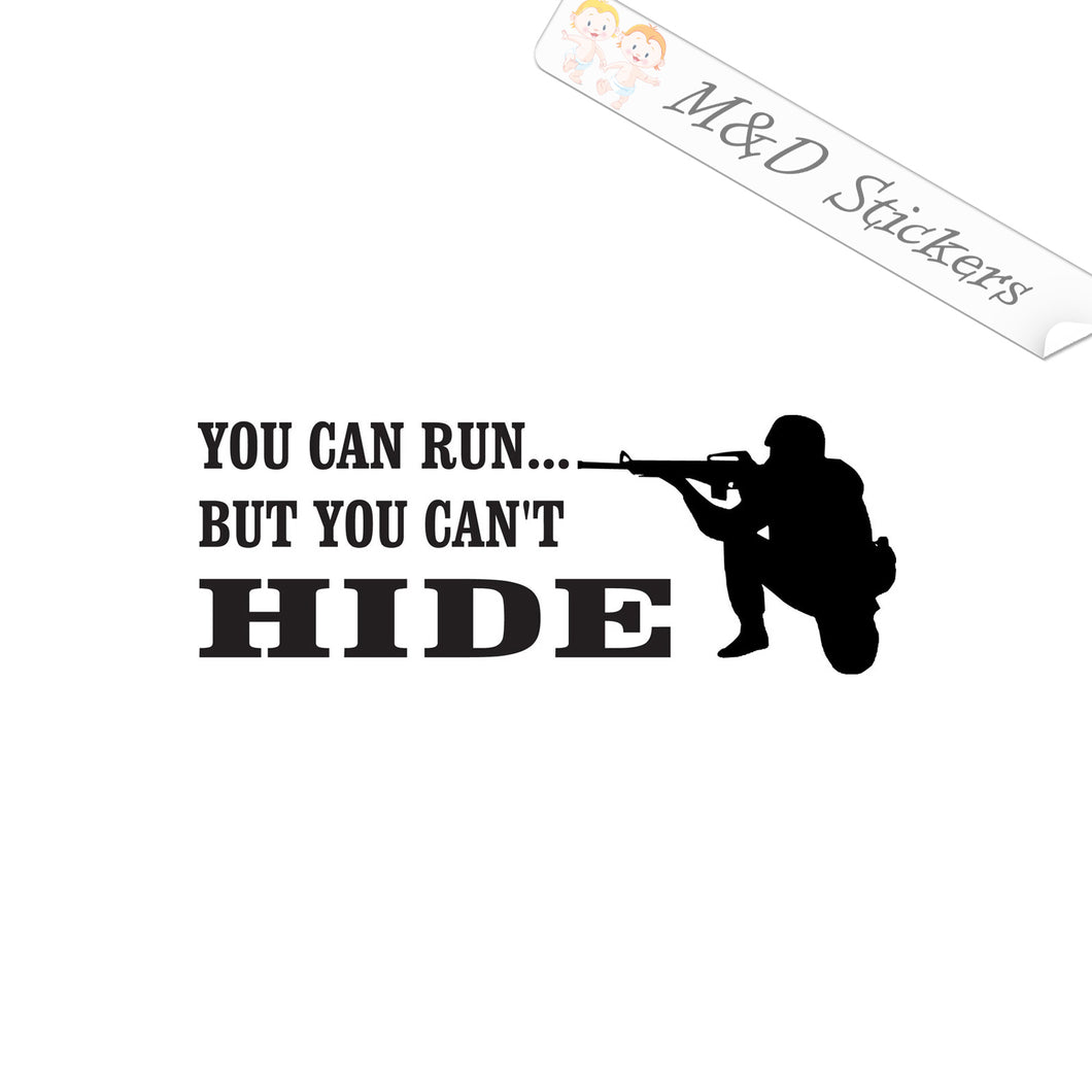 2x You can't hide Vinyl Decal Sticker Different colors & size for Cars/Bikes/Windows