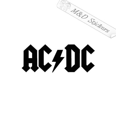 2x AC DC Logo Vinyl Decal Sticker Different colors & size for Cars/Bike