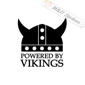 2x Powered by Vikings Vinyl Decal Sticker Different colors & size for Cars/Bikes/Windows