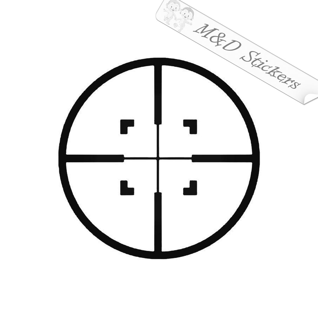 2x Hunting Crosshair Vinyl Decal Sticker Different colors & size for Cars/Bikes/Windows