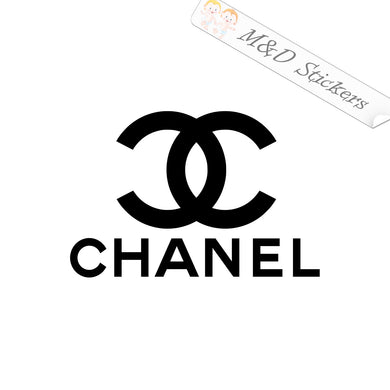 2x Chanel Logo Vinyl Decal Sticker Different colors & size for Cars/Bikes/Windows