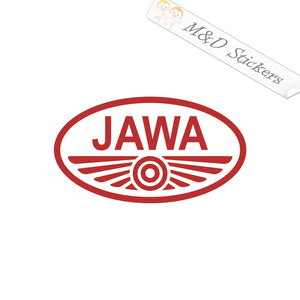 2x Jawa Logo Vinyl Decal Sticker Different colors & size for Cars/Bikes/Windows
