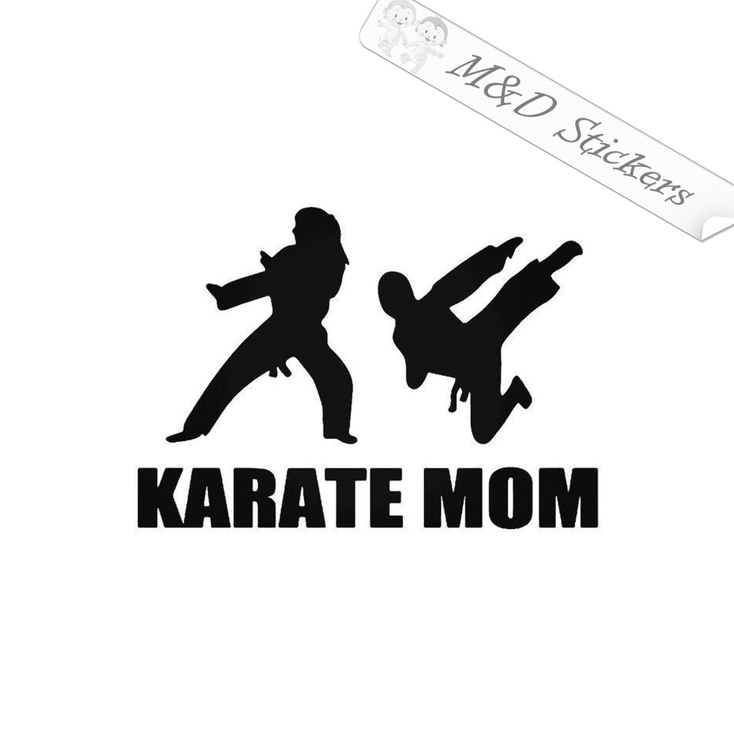 2x Karate mom Vinyl Decal Sticker Different colors & size for Cars/Bikes/Windows