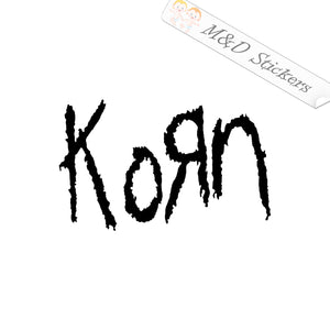 2x Korn Logo Vinyl Decal Sticker Different colors & size for Cars/Bike