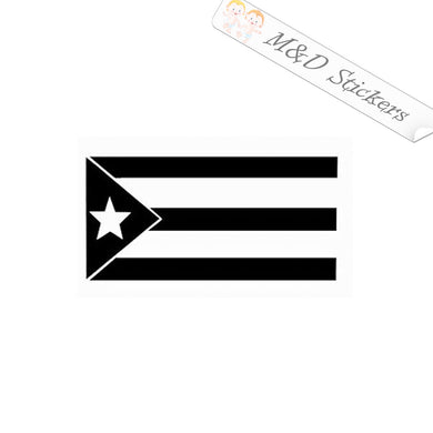 2x Puerto Rico Flag Vinyl Decal Sticker Different colors & size for Cars/Bikes/Windows
