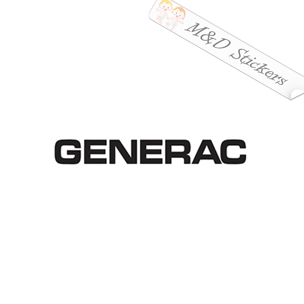 2x Generac Logo Vinyl Decal Sticker Different colors & size for Cars/Bikes/Windows