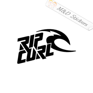 2x Rip Curl Logo Vinyl Decal Sticker Different colors & size for Cars/Bikes/Windows