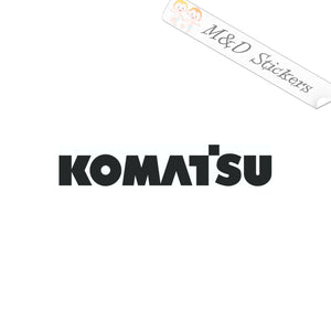 2x Komatsu Logo Vinyl Decal Sticker Different colors & size for Cars/Bikes/Windows