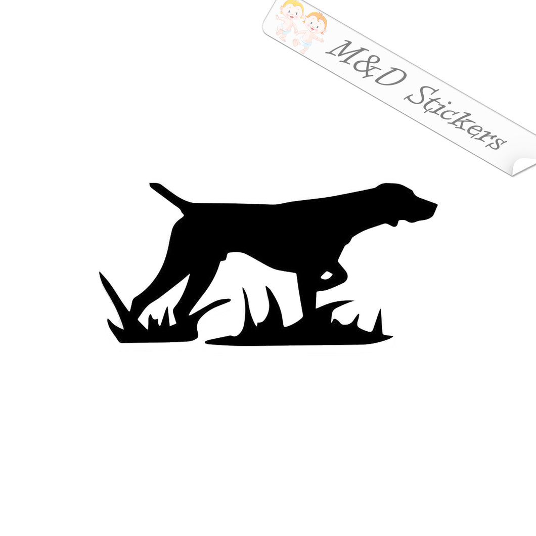 2x Labrador retriever Dog Vinyl Decal Sticker Different colors & size for Cars/Bikes/Windows